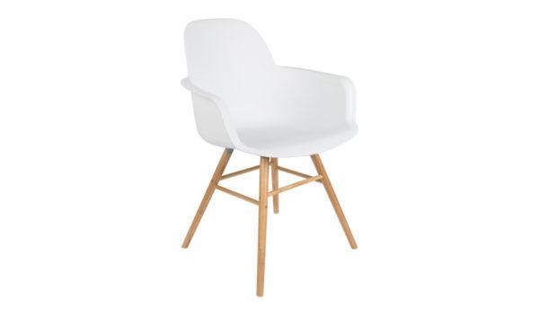 Albert Kuip armchair white Zuiver - 10% stapelkorting vanaf 4 stoelen