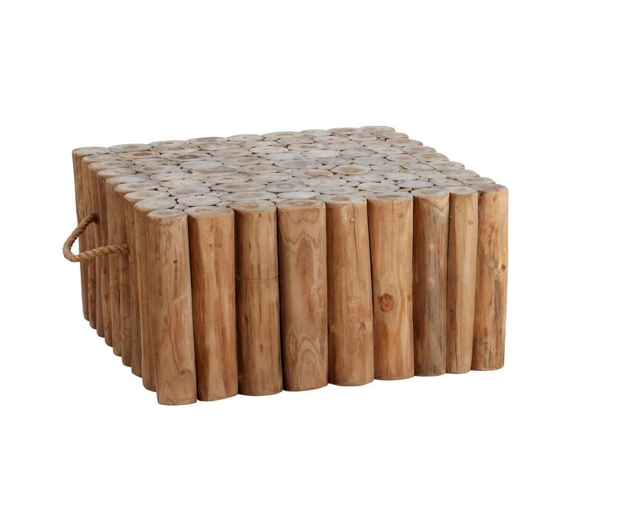 Beach 7 Block Table Teak 70x70 cm