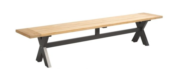 Beach 7 Moonlight Sportbench 220 cm Teak-Aluminium