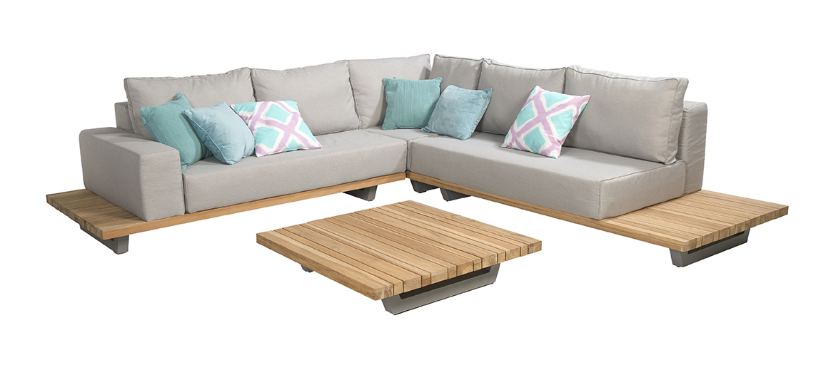 Beach 7 loungeset Elite Teak 294x202 cm