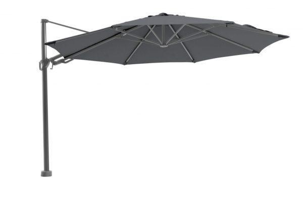 Beach 7 Kos Premium Zweefparasol 350 cm Rond Pearl Grey