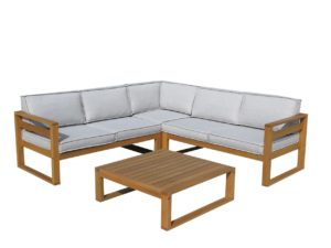 Beach 7 Booka Loungeset Hardhout 4-delig Natural