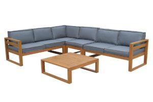 Beach 7 Booka Loungeset Hardhout XL 5-delig Graphite