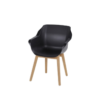 Hartman Sophie teak armchair Naturel Carbon Black
