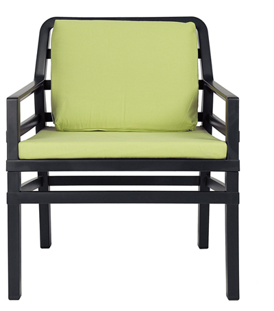 Nardi Loungechair Aria Antraciet-Lime