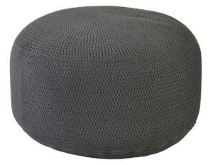 Borek Poef Crochette 80 cm Rond Antraciet
