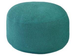 Borek Poef Crochette 80 cm Rond Blue Slate
