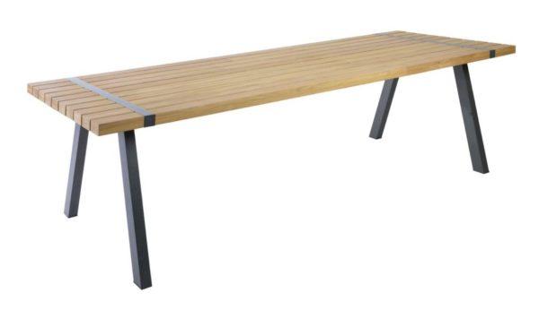 Borek Tafel Twisk 270x100 cm Teak Aluminium