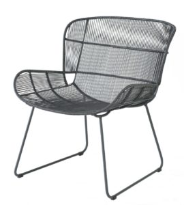 Borek Lounge Chair Faye Antraciet Lava By Max en Luuk