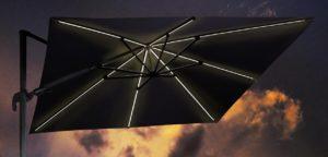 Beach 7 Parasol Solarflex T2 Glow 300x300 cm Antraciet