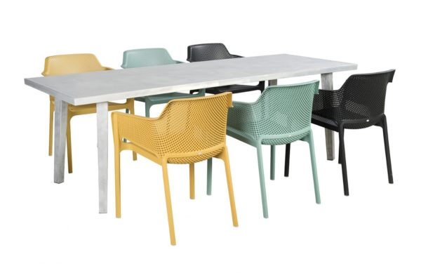 Beach 7 Tuinset Net Chair Nardi 7-Delig Blanc Tafel