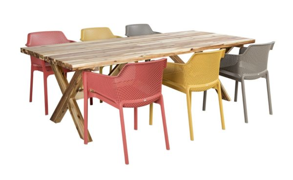 Nardi Tuinset Net Dining Maurice 7-delige Multicolor