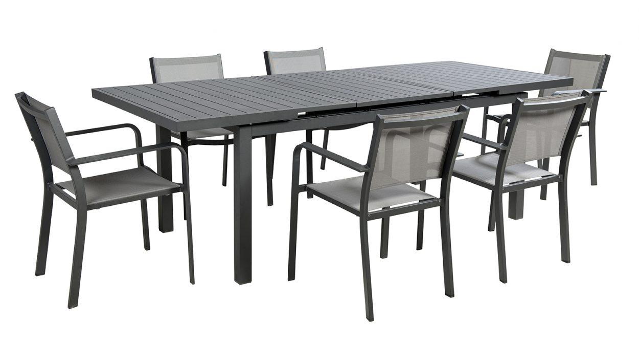 beach 7 tuinset beatle 7 delig aluminium mystic grey vivaldi xl zevenaar. Black Bedroom Furniture Sets. Home Design Ideas