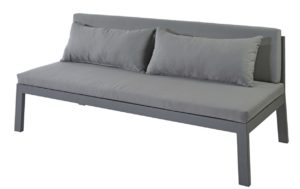 Max en Luuk Low Dining Sofa Mike Aluminium Antraciet