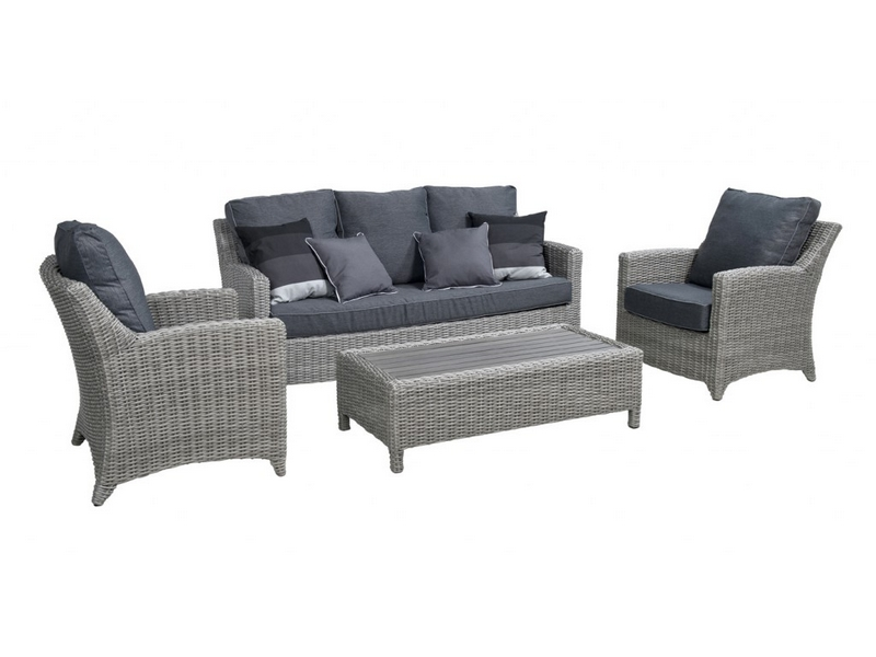 Beach 7 loveday lounge sofaset cloudy grey vivaldi xl zevenaar - Sofa vlechtwerk ...