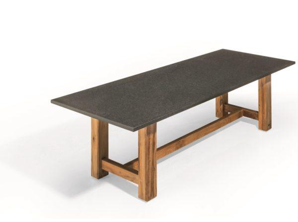 Studio 20 Tuintafel Voss Natuursteen Teak 300x100x3 cm