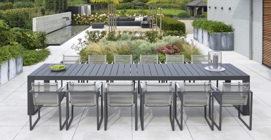Borek tuinstoel andria aluminium rope iron grey vivaldi xl zevenaar