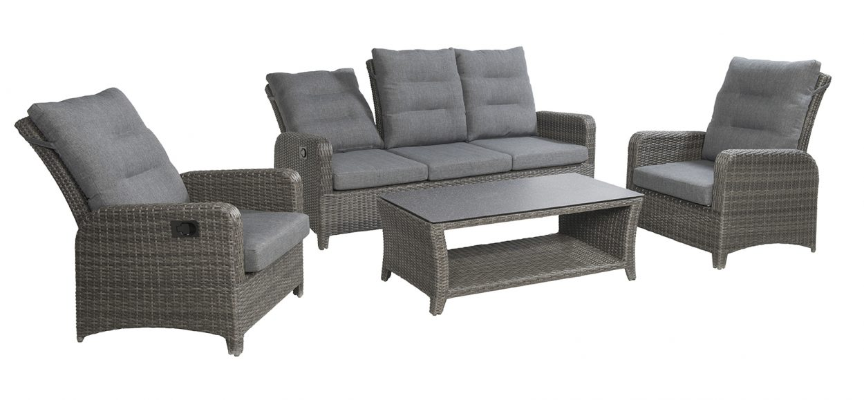 Garden deals tuinset soho lounge dining coal wicker vivaldi xl zevenaar - Sofa vlechtwerk ...