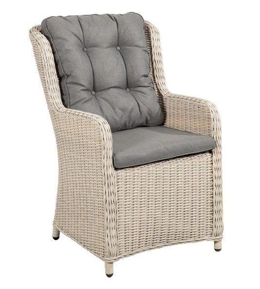 Suns Tuinstoel Almeria Wicker White Grey