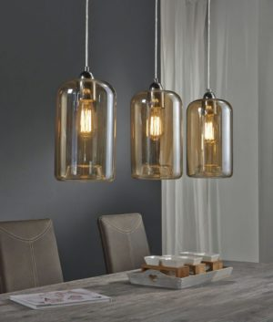hanglamp kelk amber