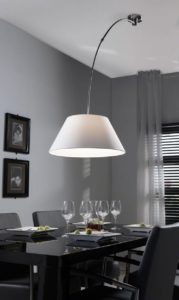 plafond booglamp halfrond wit
