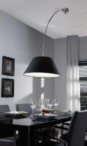 plafond booglamp zwart