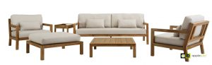 Apple Bee Loungesets Olive Teak 4-Delig