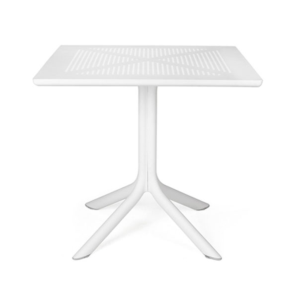 Nardi Tuintafel Clip 80x80 cm Bianco Wit