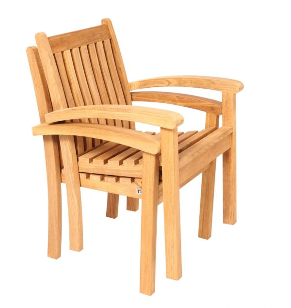 Traditional teak Victoria-stacking-chair-studio (1)