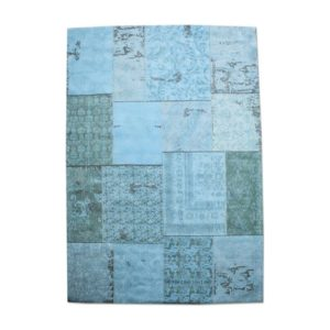 by-boo patchwork carpet 170 x 240 cm turquoise