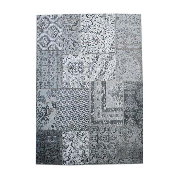 by-boo patchwork carpet 170 x 240 cm grijs