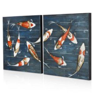 coco maison koi fish schilderij