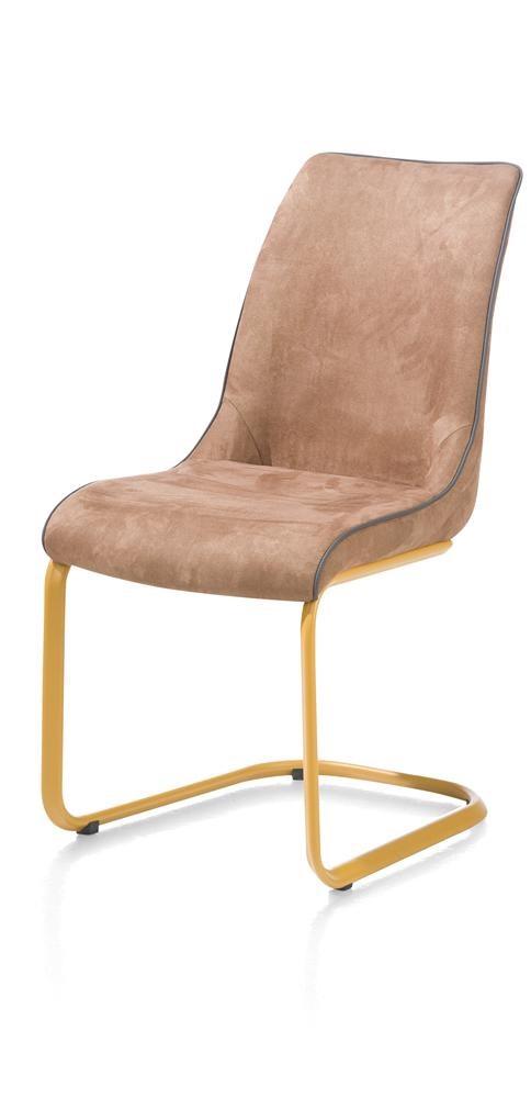 henders en hazel maxim eetkamerstoel cognac met geel onderstel vivaldi xl zevenaar. Black Bedroom Furniture Sets. Home Design Ideas