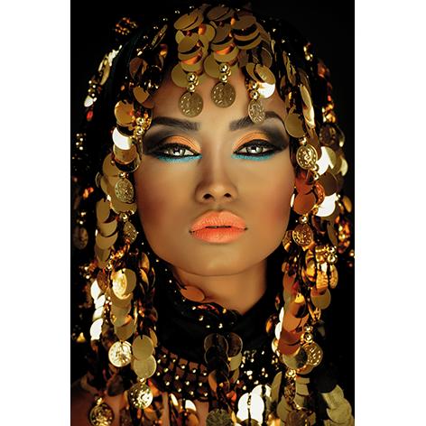 Mondiart portrait of an Arabian princess 120 x 180 cm