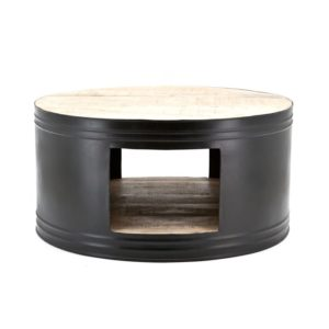 By boo barrel coffeetable zwart