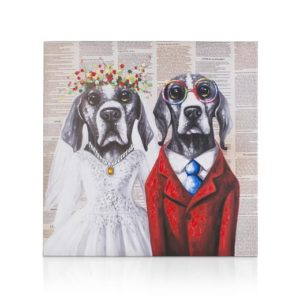 coco maison dog wedding schilderij