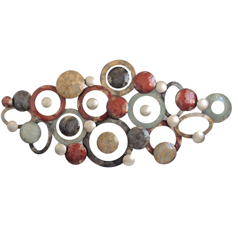 Mondiart metalen cirkels 155 x 72 cm