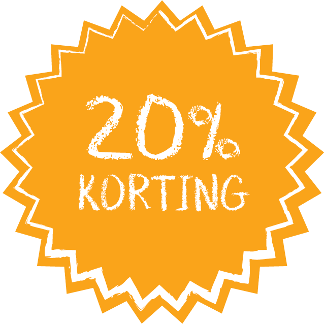 20% korting button