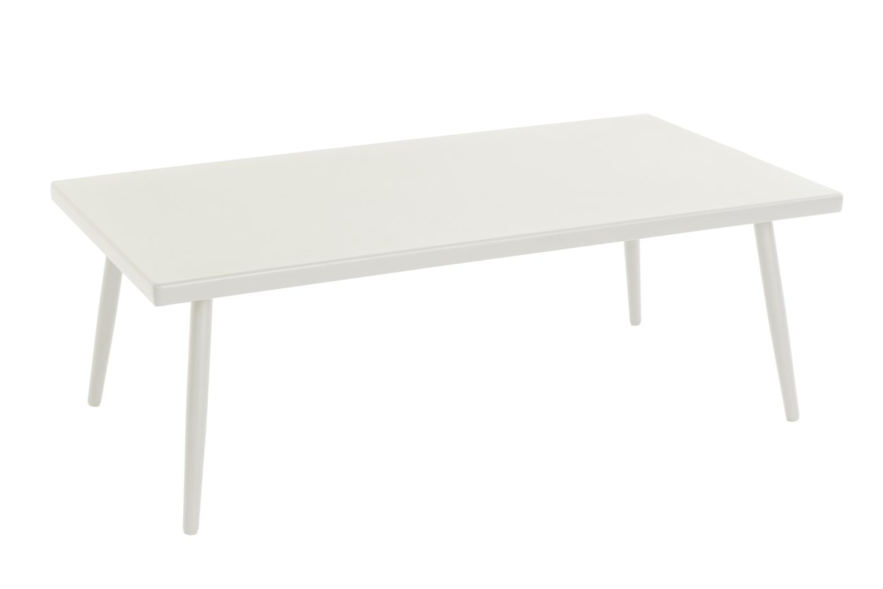 Beach 7 salontafel Coppa Aluminium 110x60 cm White