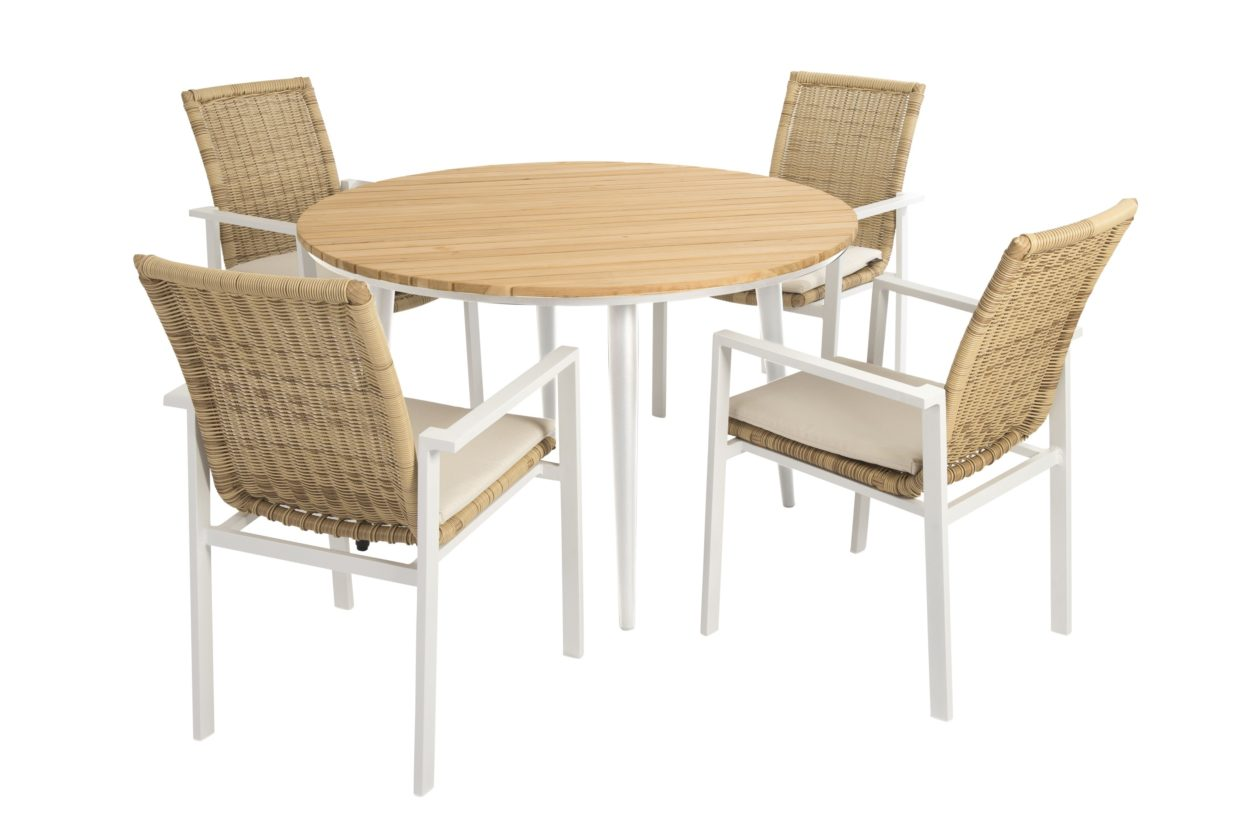 Beach 7 Diningset Belize Nature Fontelina 120 cm Rond