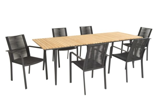 Beach 7 Tuinset Butterfly Fontelina Black Teak