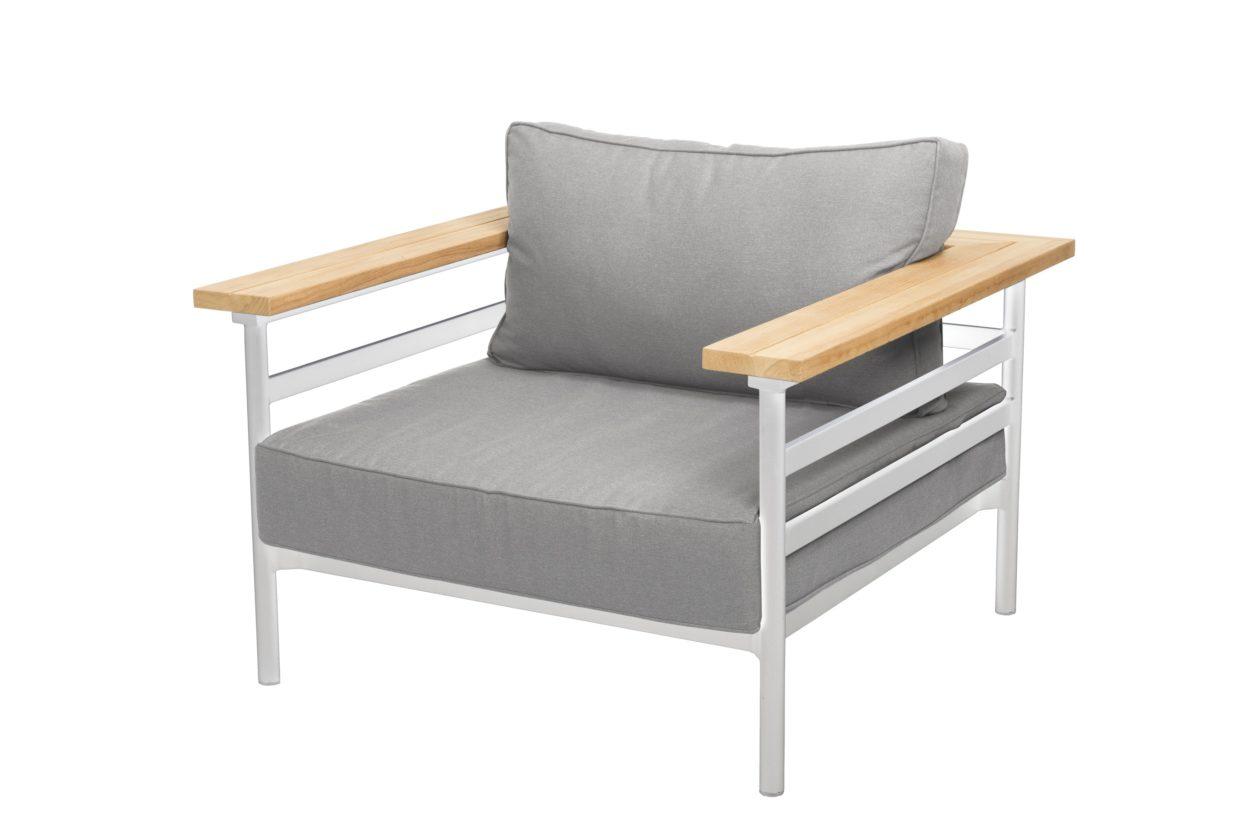 Beach 7 Loungechair Mulini Aluminium Teak White