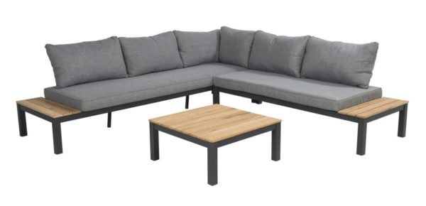 Beach 7 Loungeset Chicago Aluminium Teak