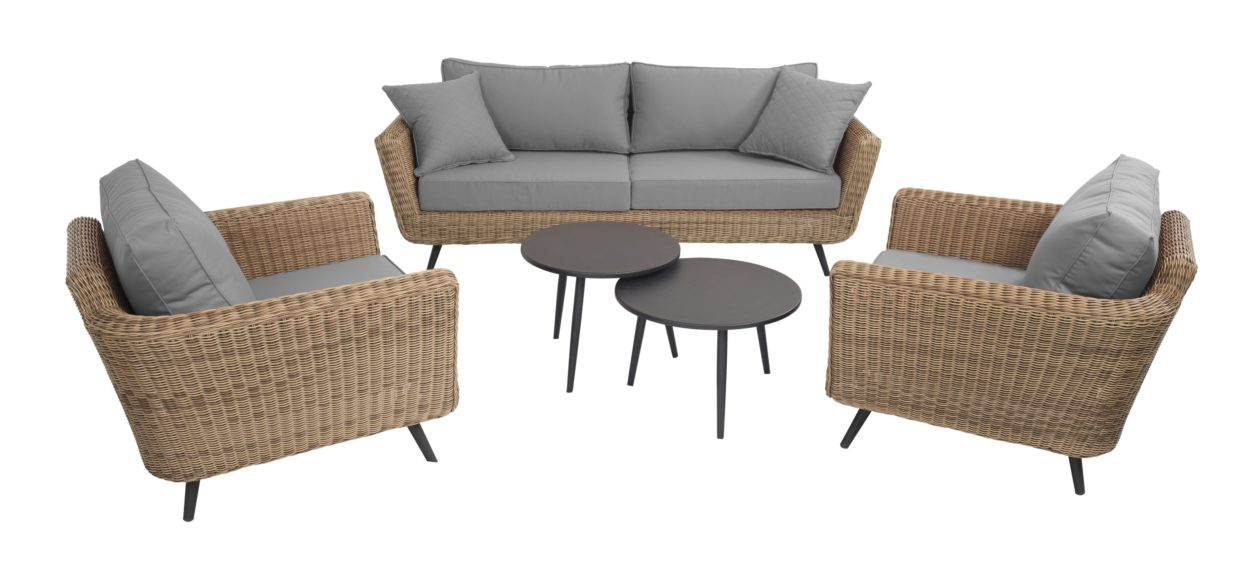 Beach 7 Loungeset Jaribu Safari 5-Delig Stone Grey