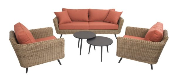 Beach 7 Loungeset Jaribu Safari 5-Delig Terracotta