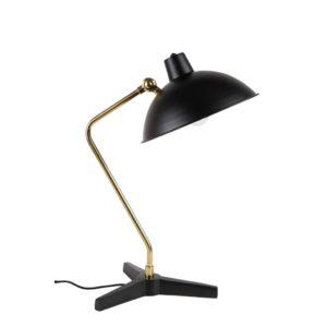 dutchbone devi tafellamp zwart