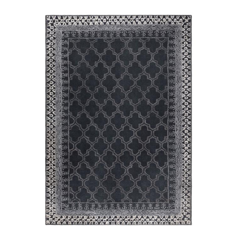 dutchbone kasba vloerkleed zwart 170 x 240 cm