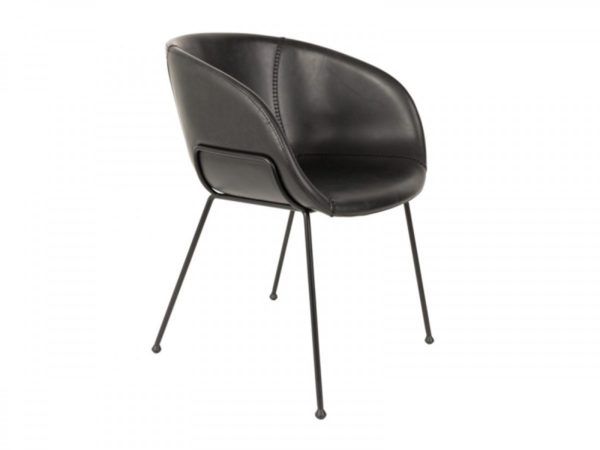 Zuiver feston armchair black