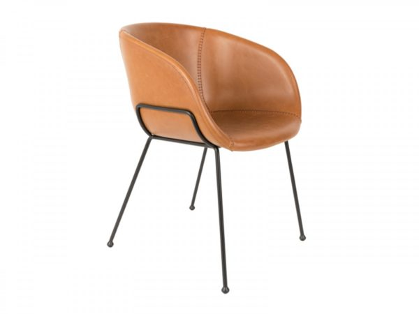 Zuiver Feston armchair brown
