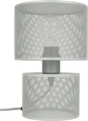 zuiver grid tafellamp grijs